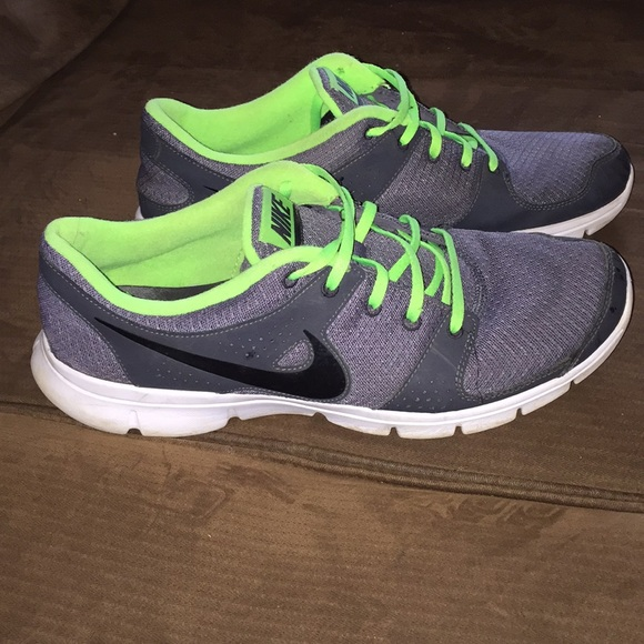 Grey And Neon Green Nike Running Shoes